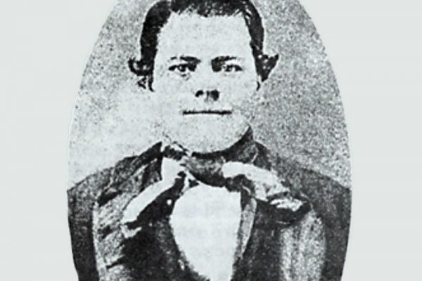 Black and white photo of Bloody Bob Sims