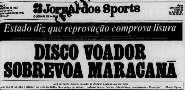 UFO over the legendary Maracanã Stadium