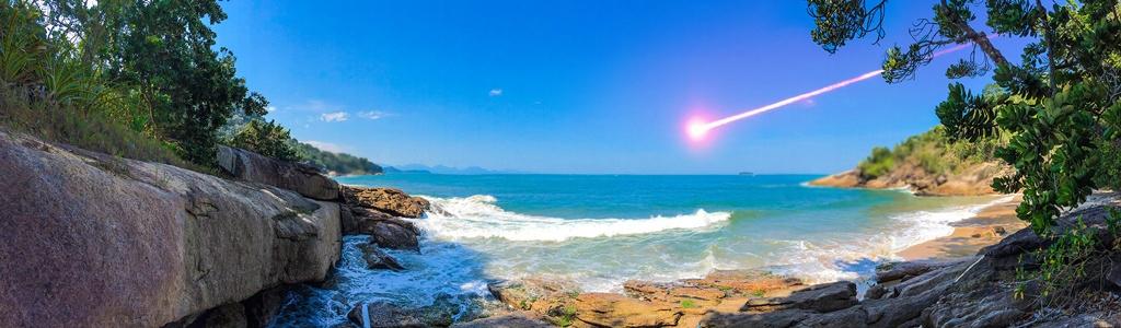 UFO crashes over the ocean in Ubatuba, Brazil