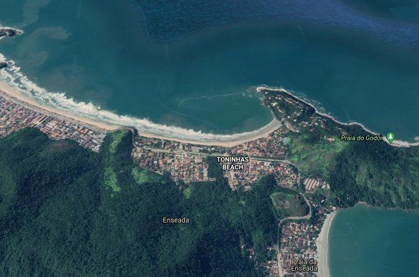 Toninhas Beach  aerial photograph